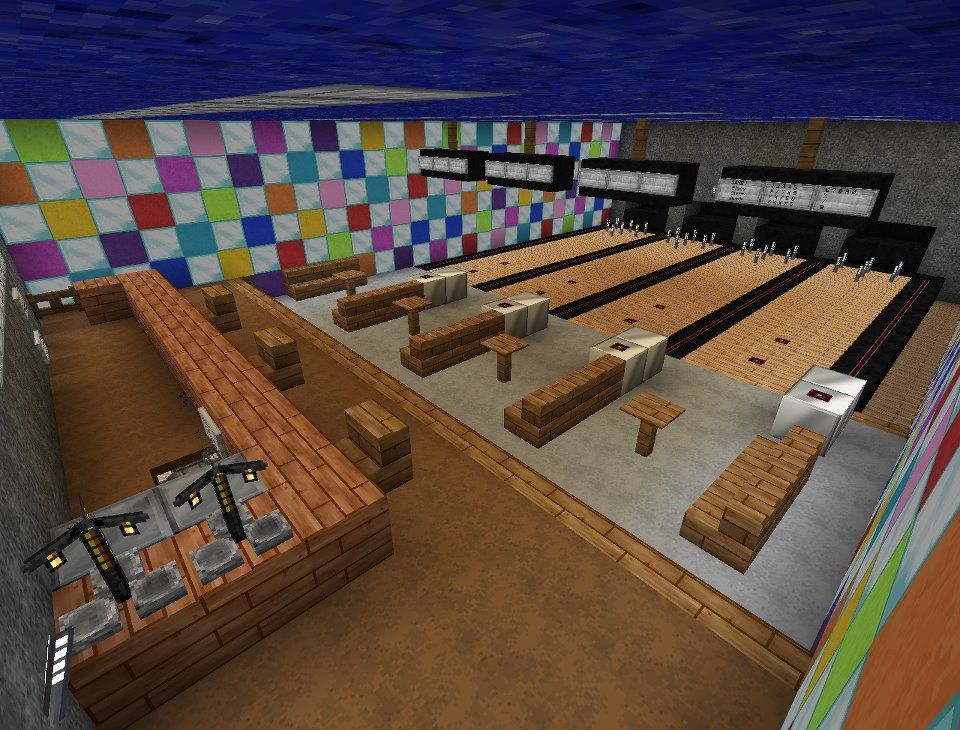 minecraft bowling alley - Google Search Minecraft Pinterest - fresh building blueprint design software