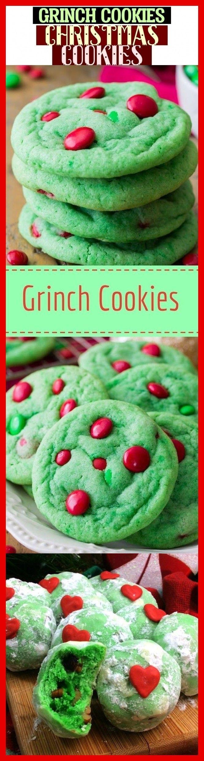 Mehr als 44 Grinch Cookies Weihnachtsplätzchen & Grinch Cookies #Weihnachten #Kochen ... #grinchcookies