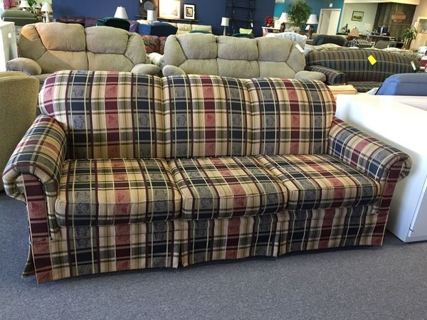 Plaid Living Room Furniture Broyhill