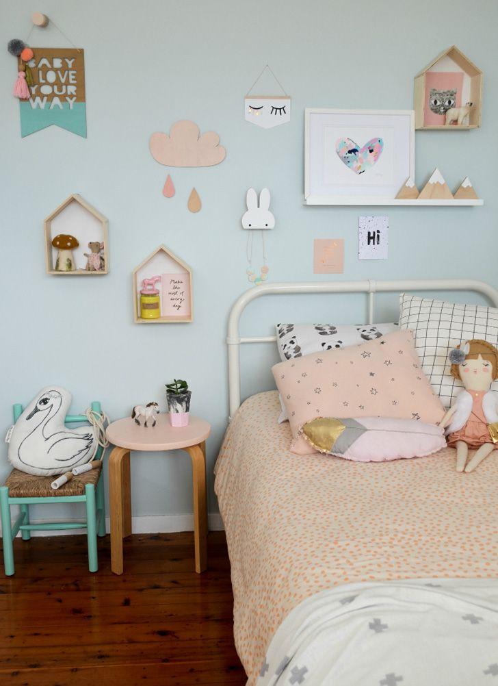 Habitacion infantil n rdica en tonos pastel deco cuarto for Muebles habitacion infantil nina