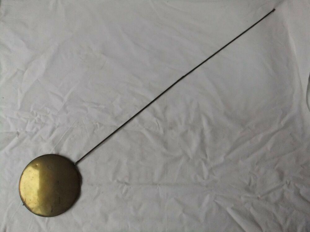 Balancier ancien XIX comtoise lentille diamètre 16 cm ...