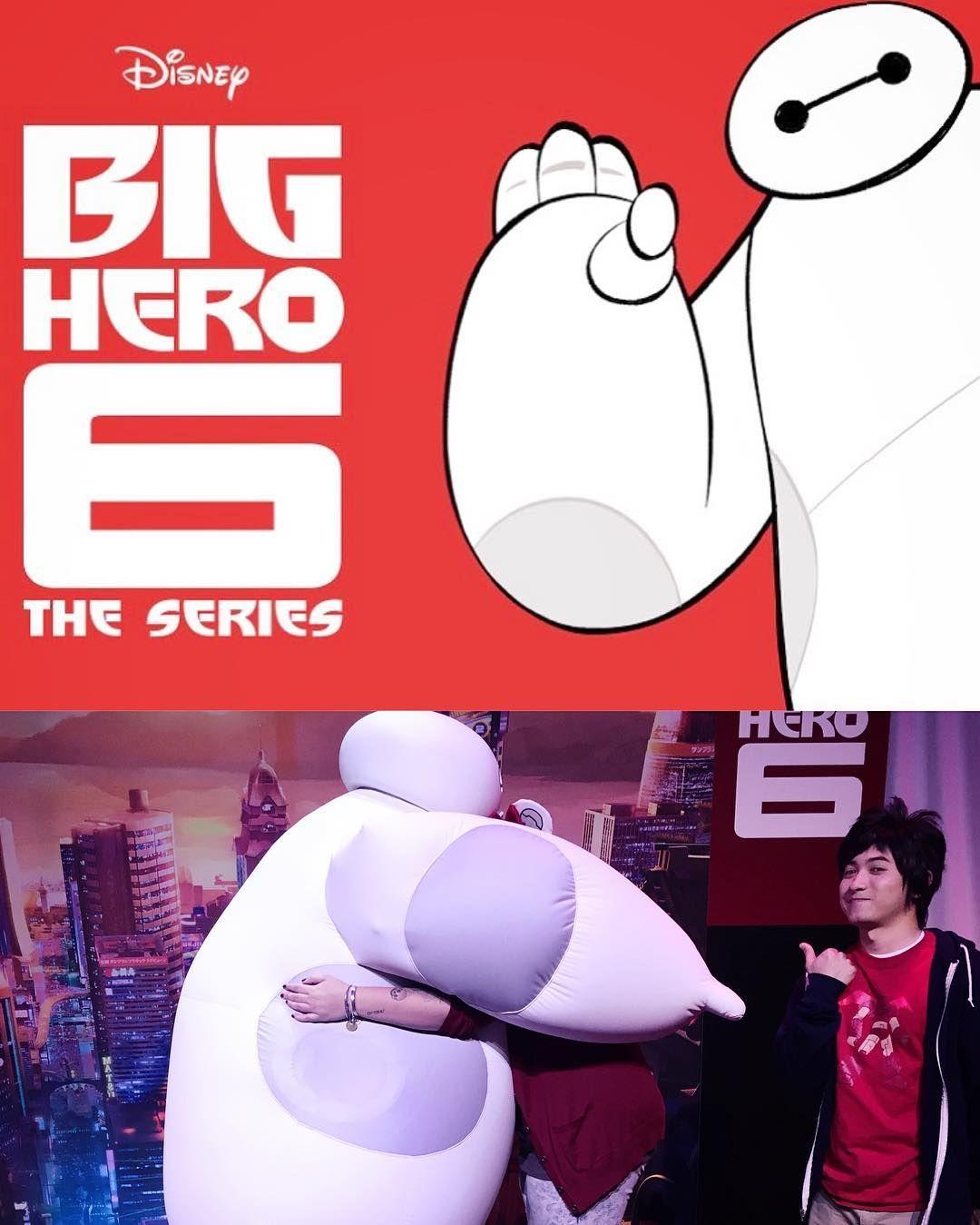 Big hugs & congrats to #Baymax #Hiro and the entire #BigHero6 gang! CANNOT wait for #BigHero6TheSeries!  #apdays #disney @disney @disneyanimation by xemilee