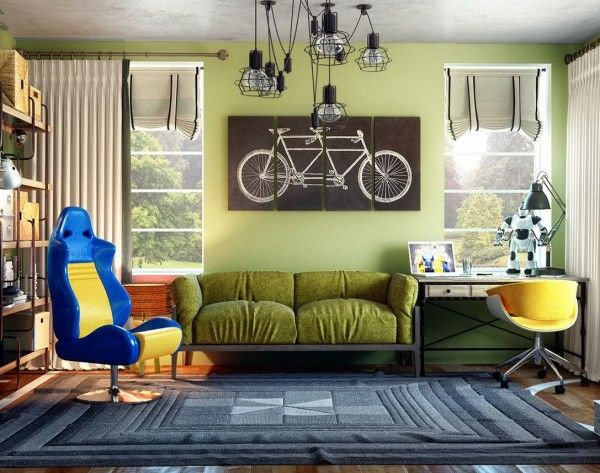 Bedroom Design Ideas For Teenagers Colorful Teen Room With Slick Rug. U2013  Modern Home And Interior Design Ideas