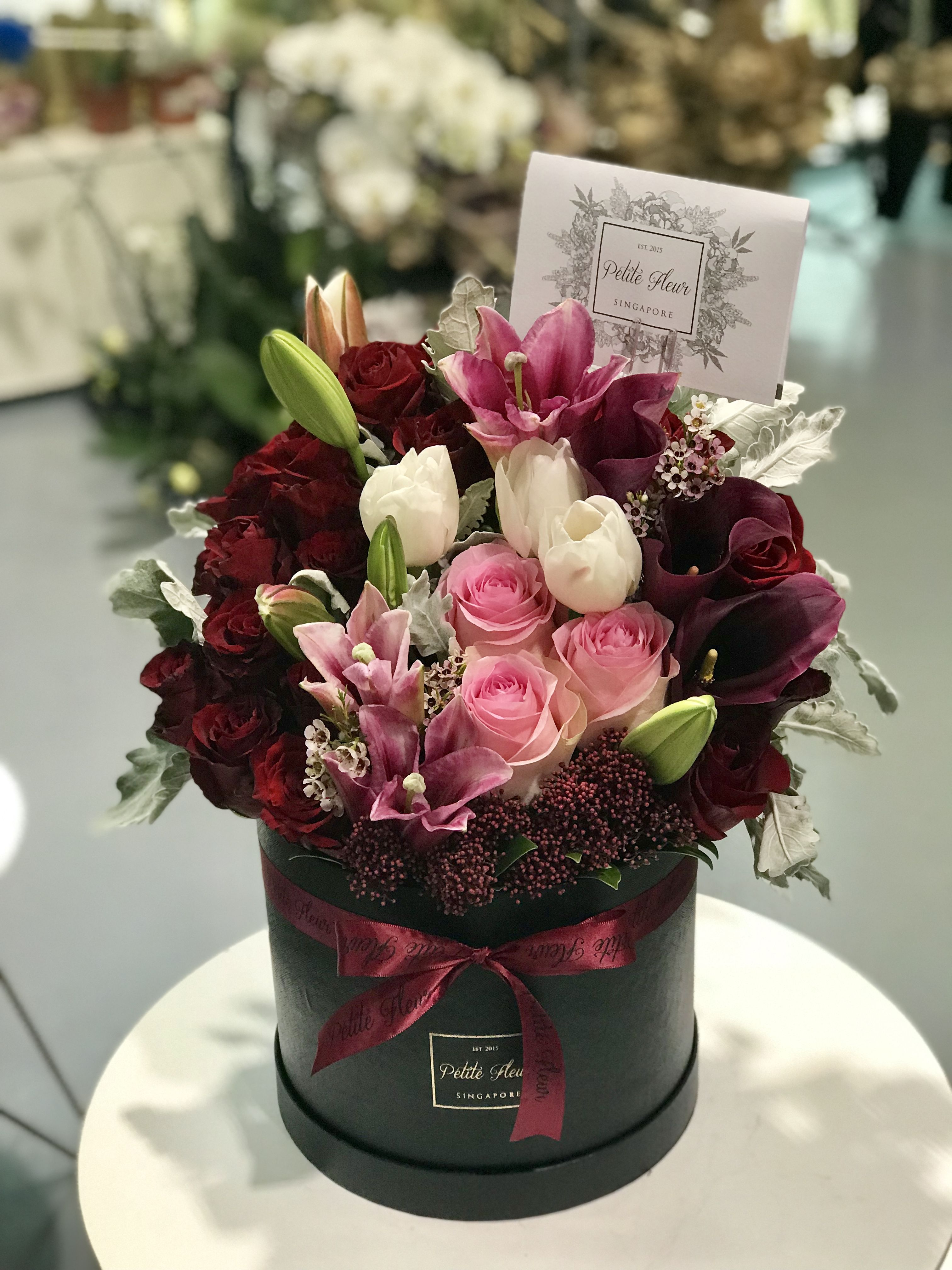 Petite Round Flower Box Fresh Blooms petitefleursg
