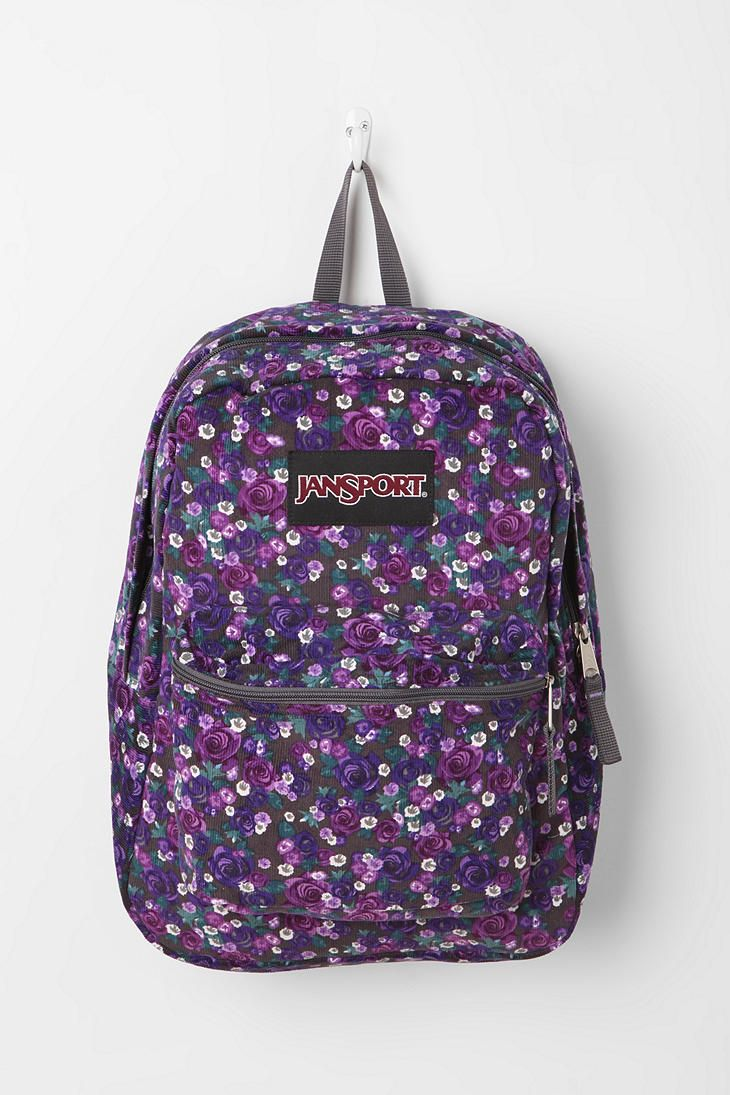 Jansport Corduroy Bouquet Backpack Jansport Backpack Cute