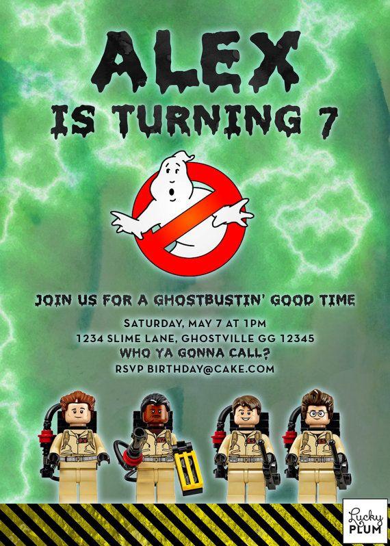 Ghostbuster Birthday Invitation / Ghost Buster Birthday ...