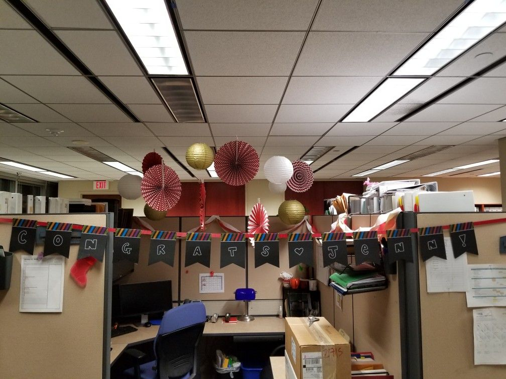 Office Cubicle Farewell Decor