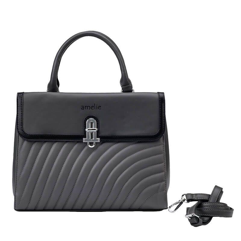 7f9df69673 Γυναικεία τσάντα χειρός - ώμου γκρι Amelie 3061  τσάντες ώμου  γυναικείες  τσάντες