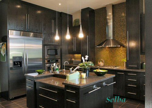 Best Dark Brown Maple Kitchen Cabinets Thermafoil Cabinets 400 x 300