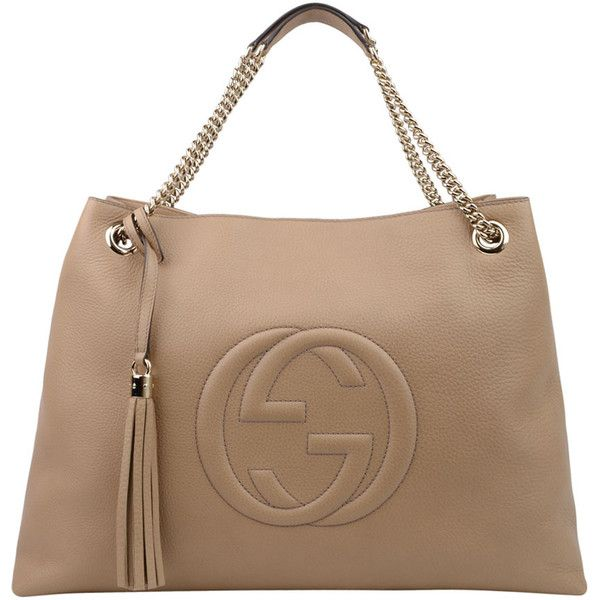 8915506f341 GUCCI Large Leather Soho Chain Tote (£1