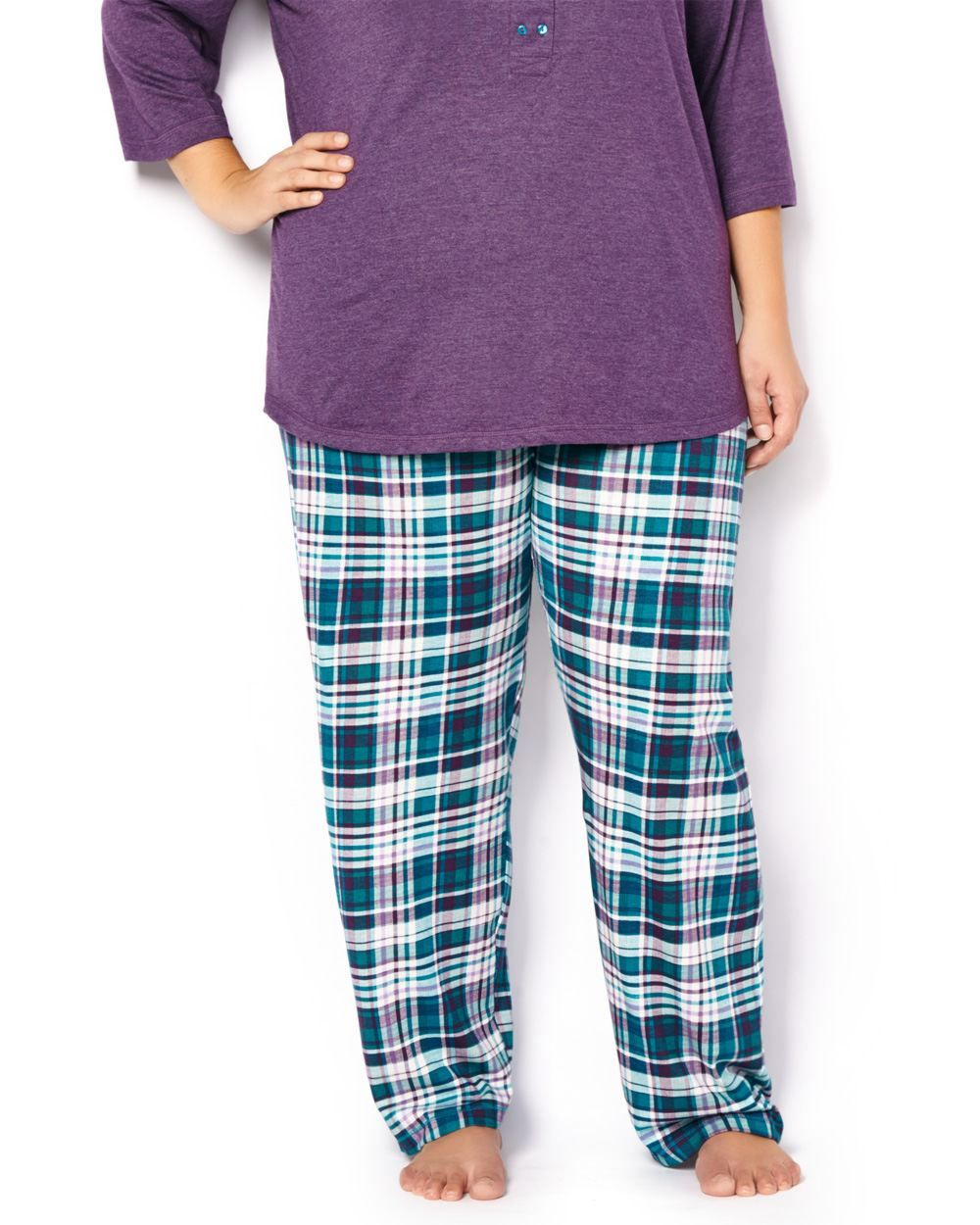 8c9f6da525 3x Sleep in style thanks to this comfy plus-size sleep pant! Features a  trendy plaid print