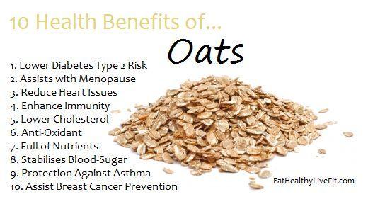 10 Health Benefits of Oats   Food health benefits, Healthy ...