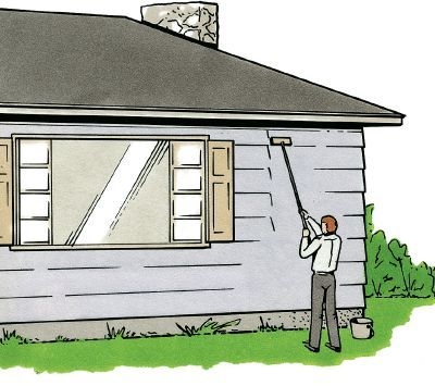 How to paint a house articles house and curb appeal - Cost exterior house painting concept ...