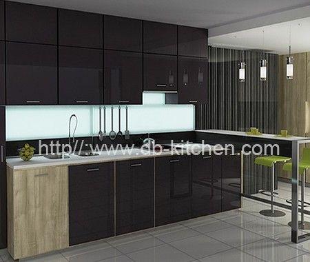 High Gloss Dark Grey Acrylic Kitchen Cabinet Manufacturer Glass