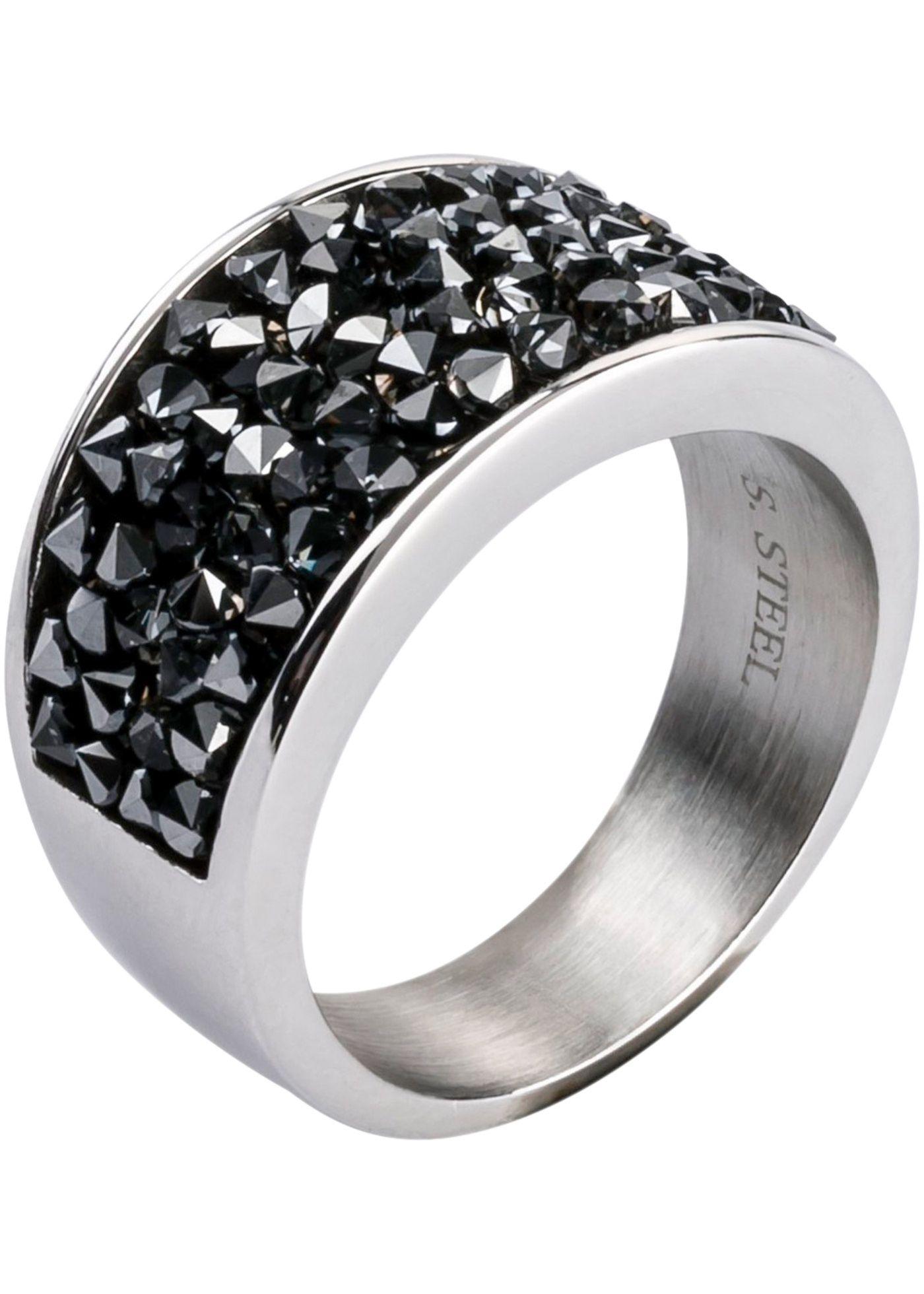 Edelstahl Ring veredelt mit Swarovski® Kristallen in 2021 ...