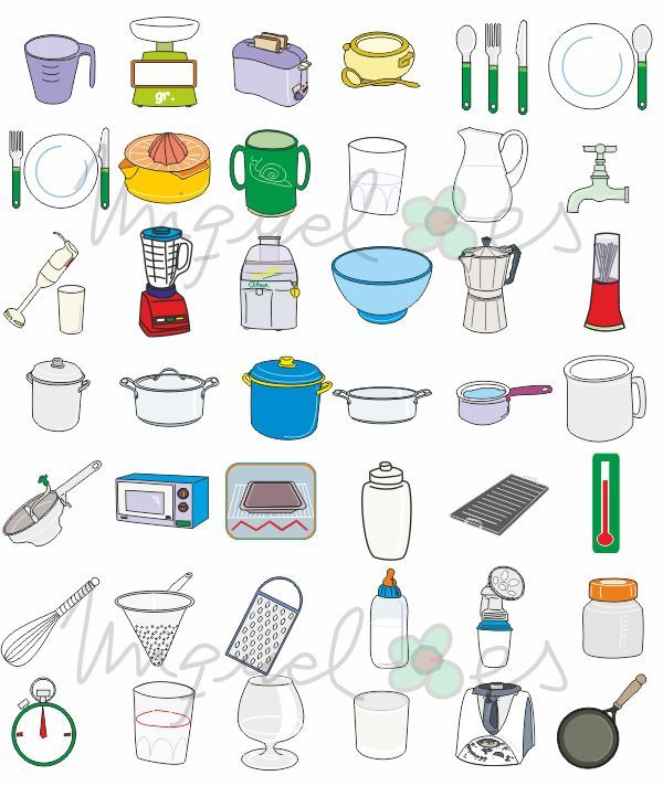 Dibujo De Una Cocina   Dibujo Utensilios Cocina Imagui Recetario Pinterest