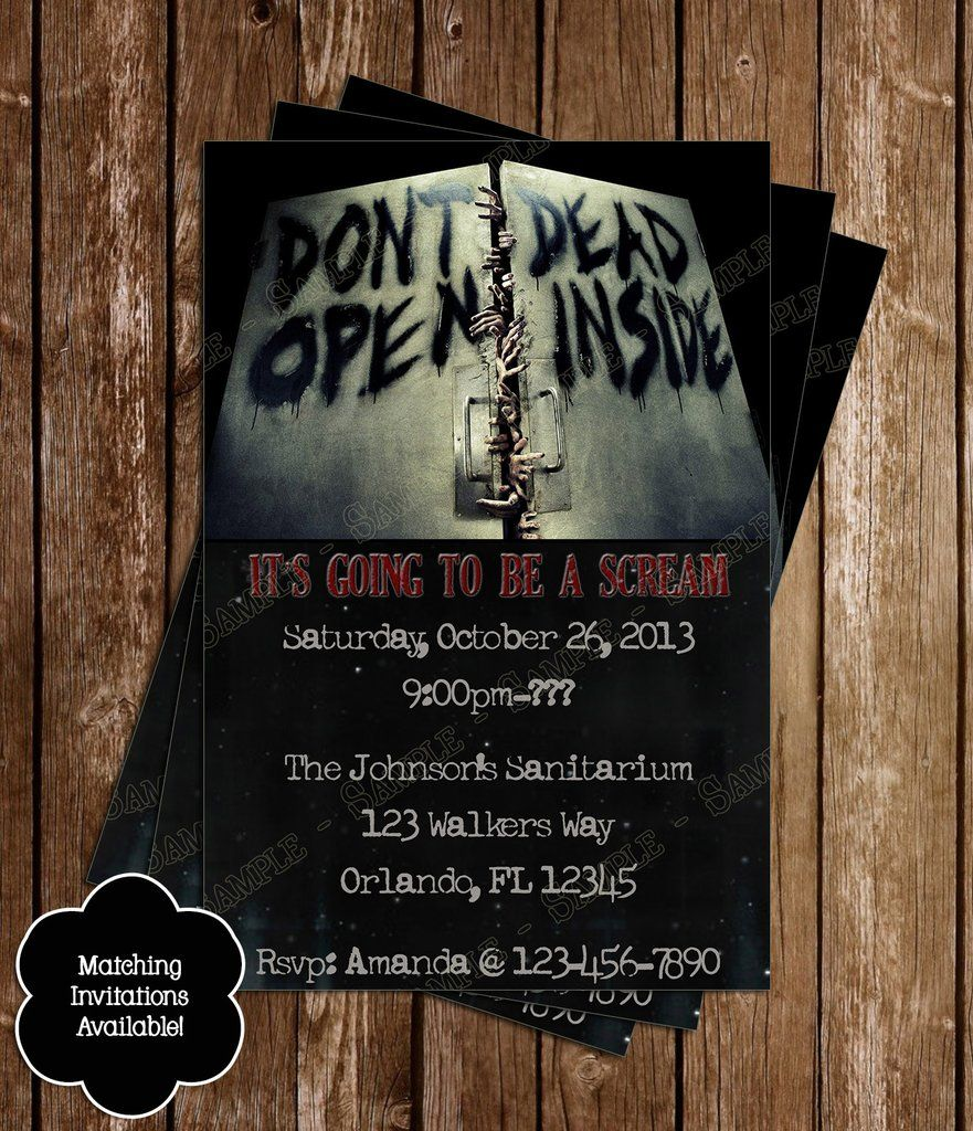 Birthday Invitation - Zombie Apocalypse 2 | Halloween party ...