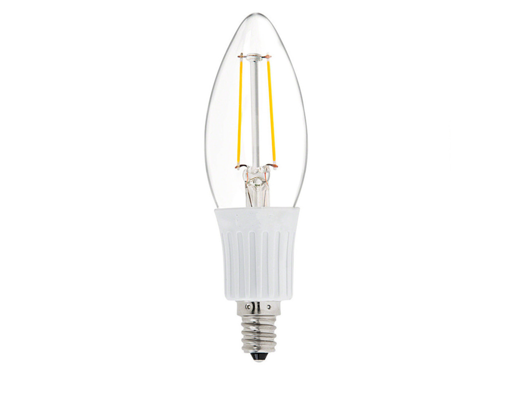 Dc 12v 24v 36v 2w E14 Ses Chandelier Cob Filament Candle Led Light Bulb Bulb Light Beam Traditional Lighting