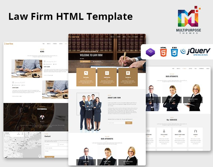 Responsive Website Template Law Firm One Page Law Firm Responsive Website Template Html Templates