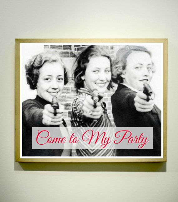 COME to MY PARTY Printable Invitation / Wall by LetterboxStudio, $3.99