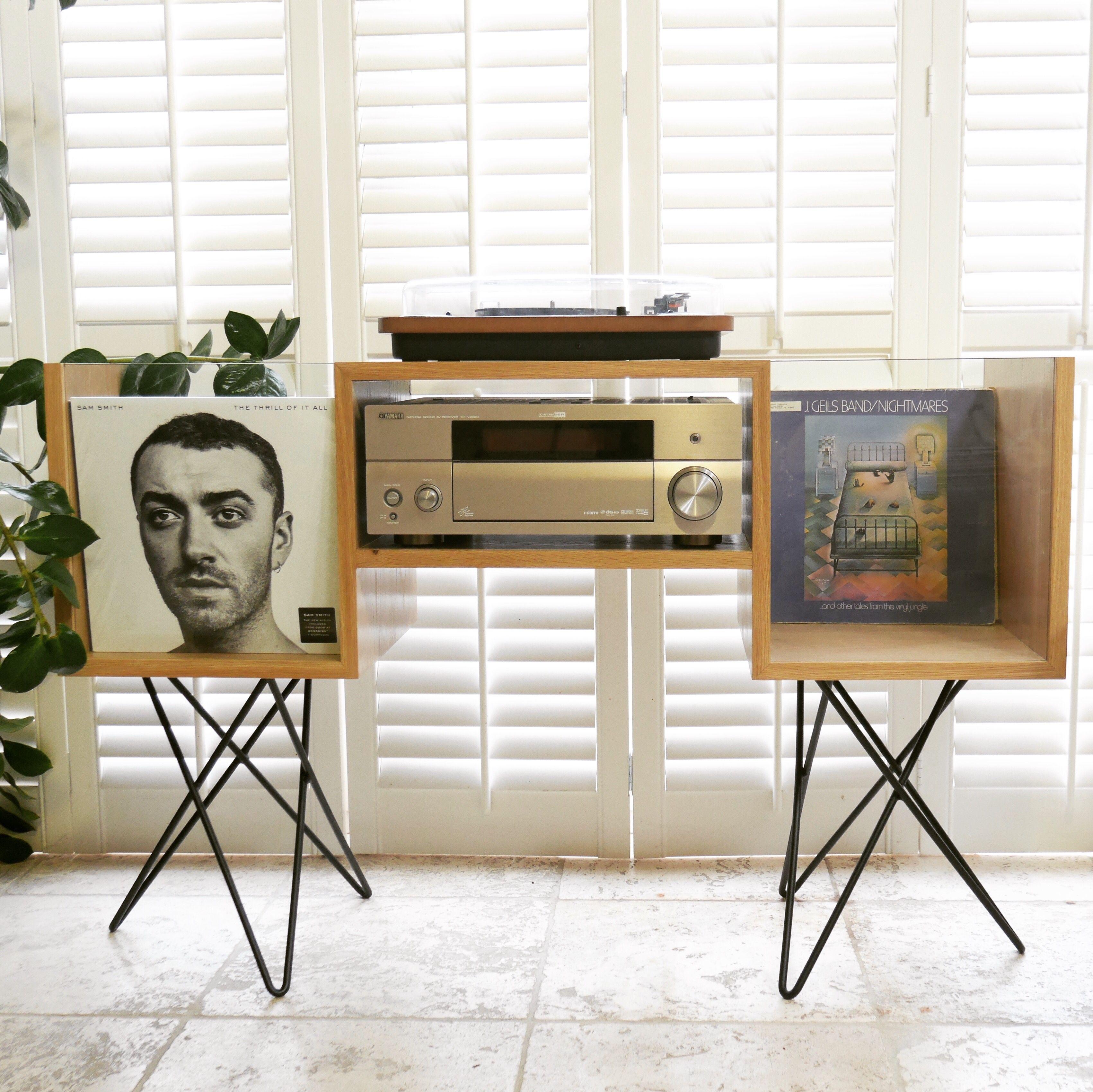 meuble platine vinyle record room