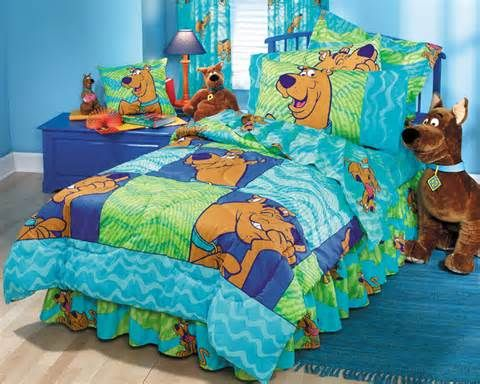 scooby doo thumbprints boys and girls comforter twin bedding - Scoobydoo Bedding