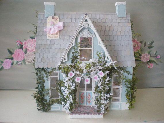 Tiffany Wedding Bride's Cottage Custom Dollhouse by Cinderella Moments
