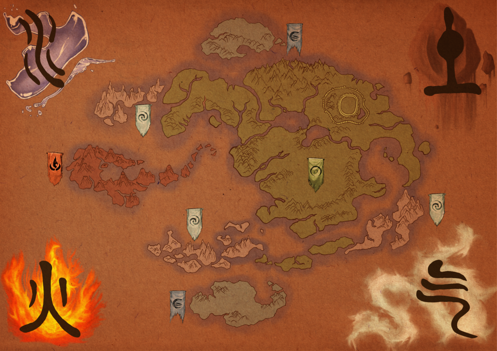 Avatar: the Last Airbender Map by ~tipsycakes on deviantART | Master ...