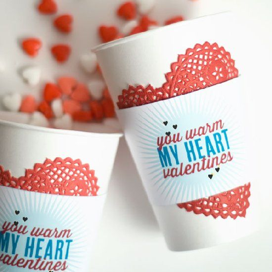 Put together a warm little cup of coffee or hot cocoa for your loved ones this Valentines with this cute printable.