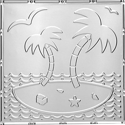 Island Oasis Tin Ceiling Tile 24 X24 2481 Tin Ceiling Tin Ceiling Tiles Decorative Ceiling Tile