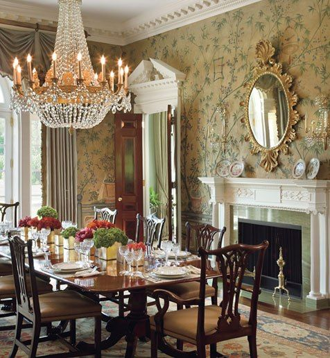 25 perfect dining rooms by ad100 designers chinese for Beautiful traditional dining rooms