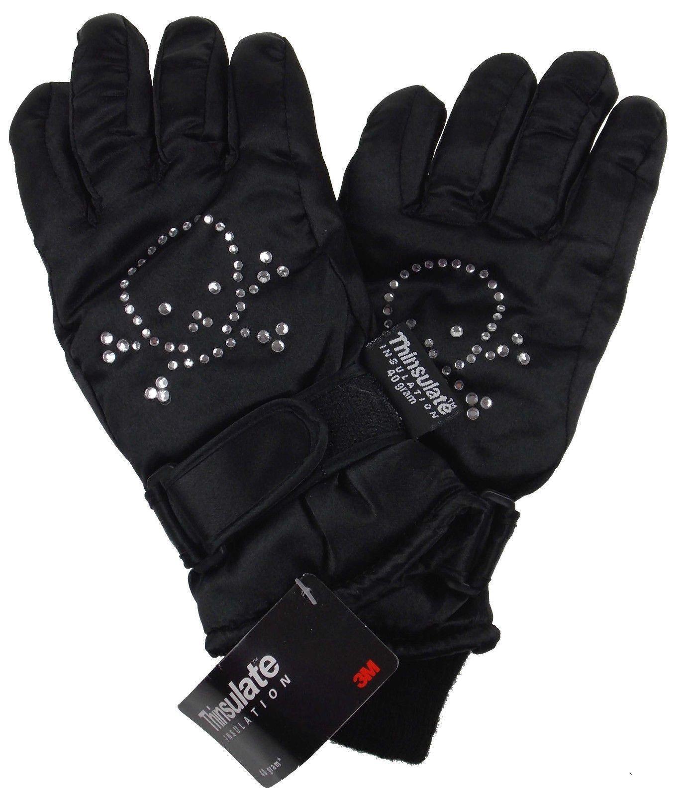 Joe Boxer Girls Ski Gloves Blue Warm 3M Thinsulate 40g Waterproof Winter Sports