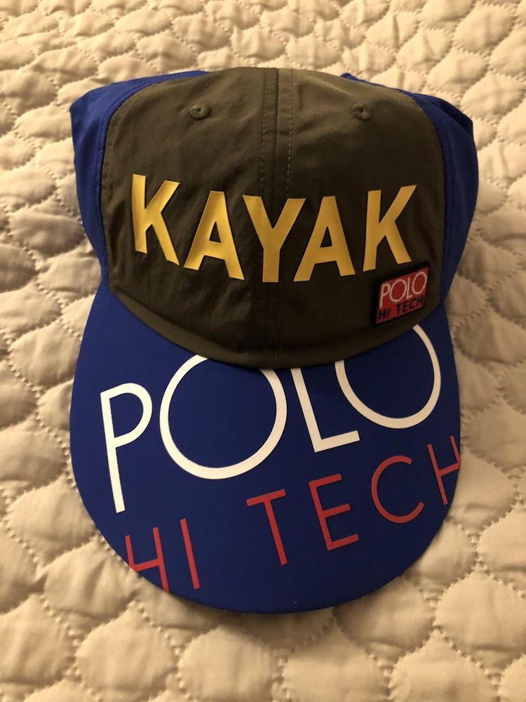 Polo Ralph Lauren Hi Tech KAYAK Cap Hat Alpine Trek Climb NEW WITH TAGS One  Size 6b28a4d6506