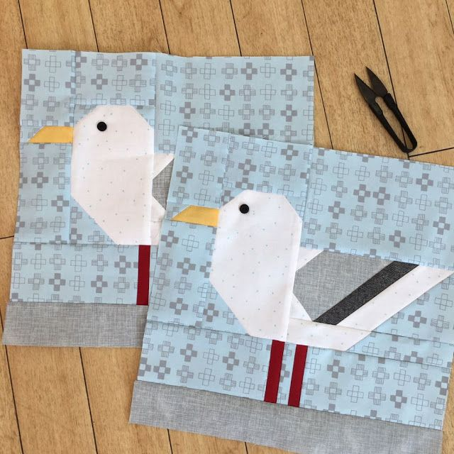 ellisandhiggs Block seagull #flowerfabric