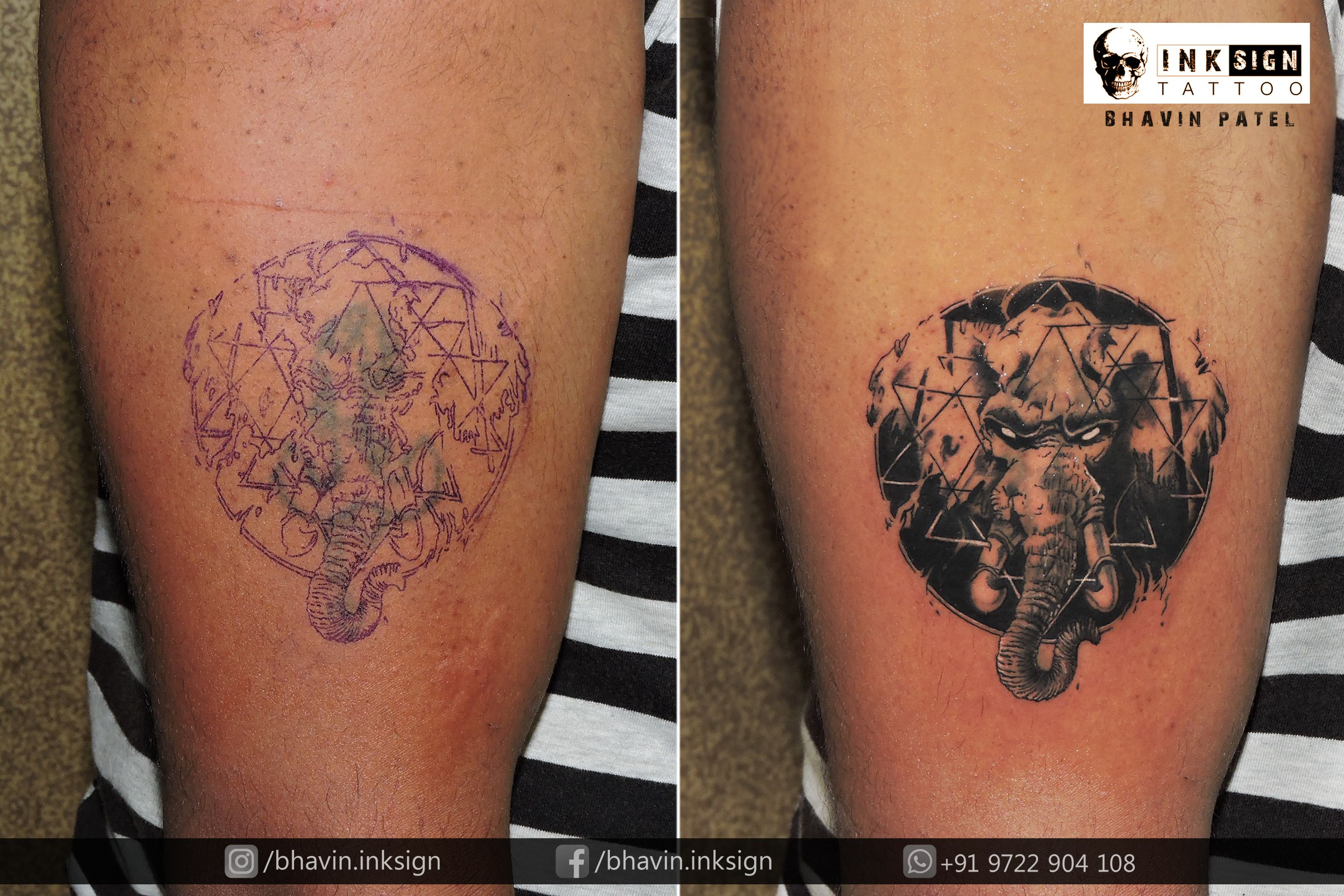 Old Tattoo Cover Up Done By #BhavinPatel ( Professional Tattoo ...