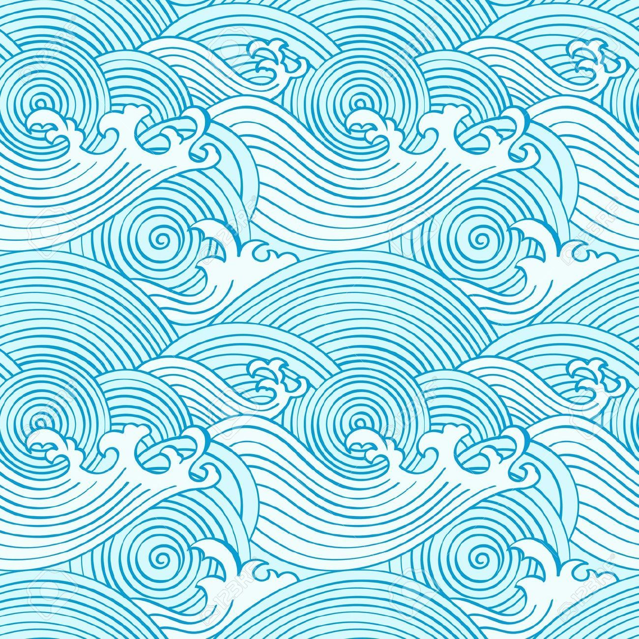 japanese seamless waves pattern in ocean colors royalty free cliparts vectors and stock. Black Bedroom Furniture Sets. Home Design Ideas