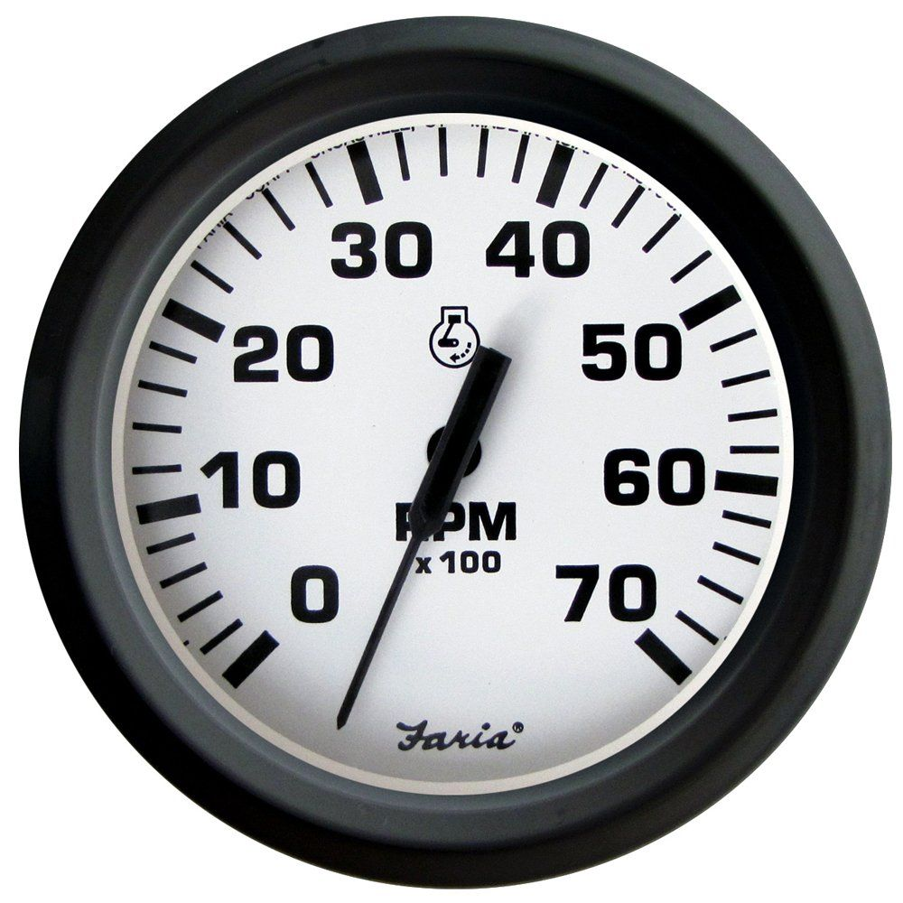Faria Euro White 4 Tachometer 7000 Rpm Gass All Outboards Continue To The Product At The Image Link This Is An Aff Tachometer Outboard Perimeter Lighting