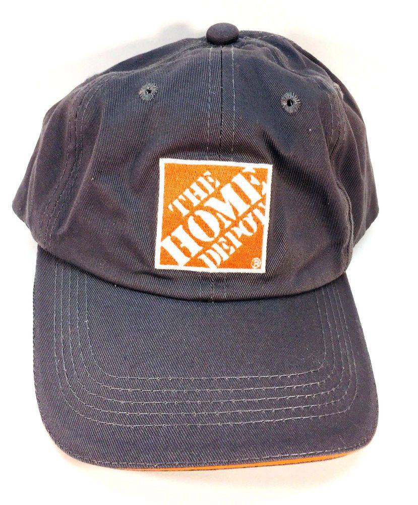 ee3240e0778 Home Depot Gray Strapback Baseball Cap Hat  fashion  clothing  shoes   accessories