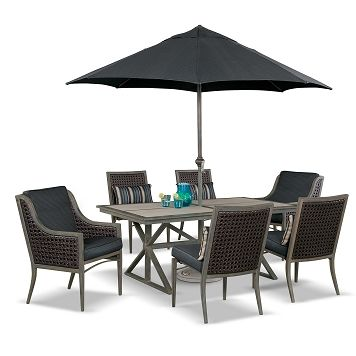 Crawford Outdoor Furniture 9 Pc. Patio Dinette   Value City Furniture  $1,599.91