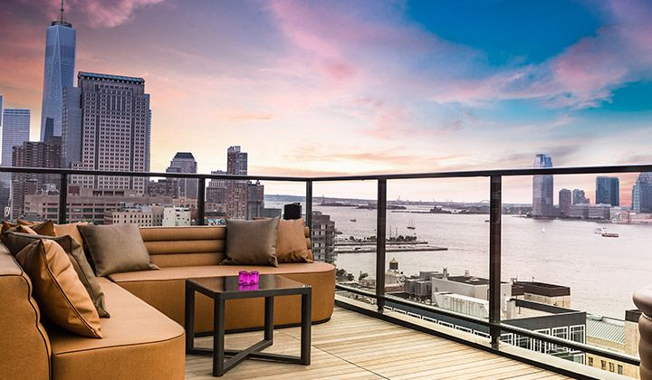 Hotel Hugo features 112 rooms and suites and it's available for private events for up to 115 guests. The 20-story tower features dramatic views of the Hudson River, Freedom Tower and Statue of Liberty,  #EventProfs