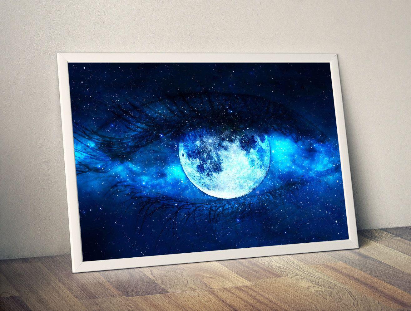 Moon eye moon phase moon print moon art moon wall hanging moon