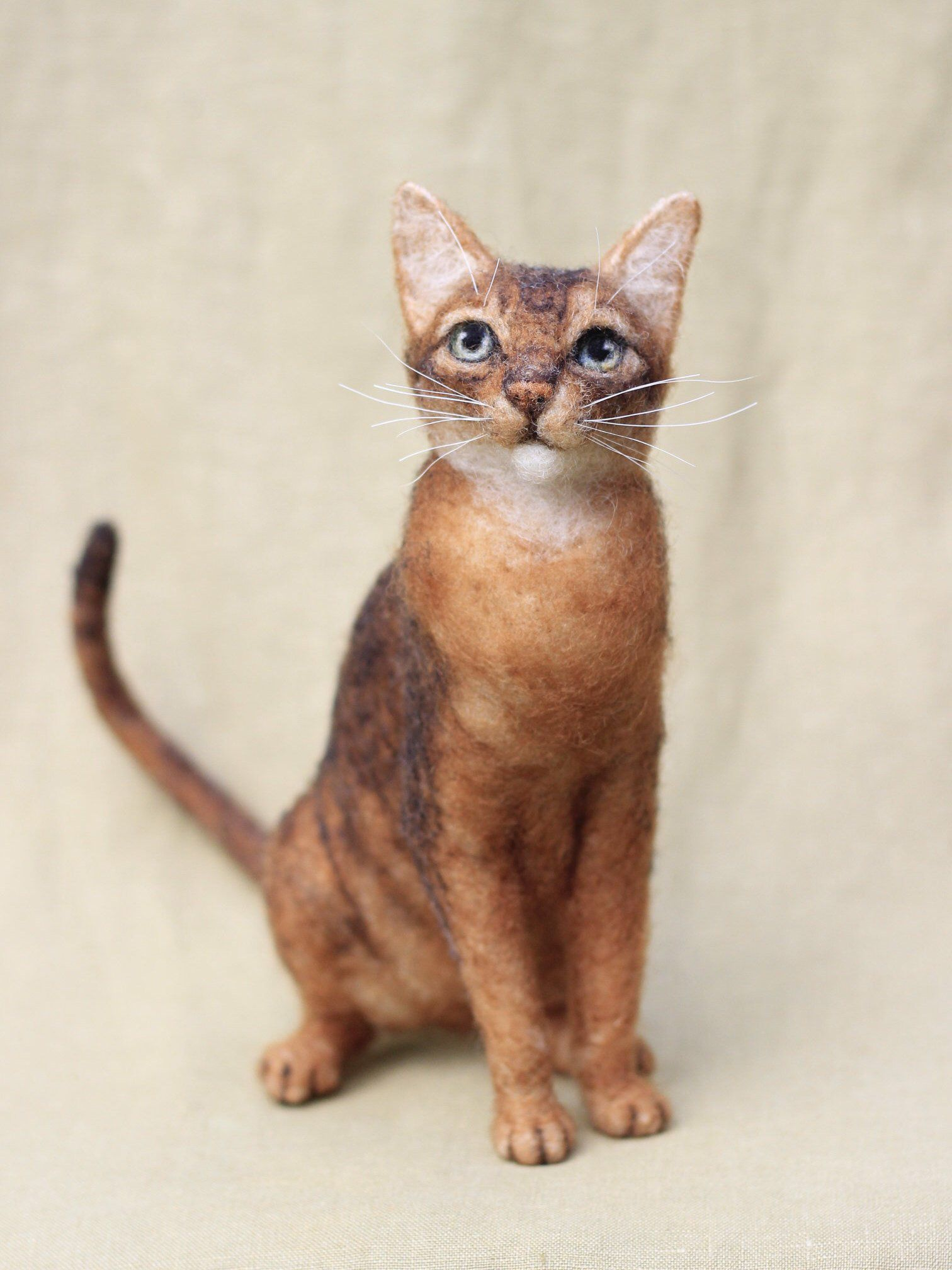 Needle felted cat, custom portrait of your pet, 1112