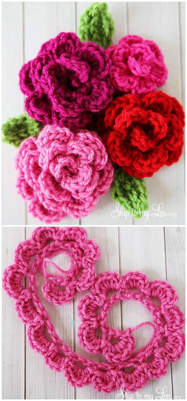 crochet flower pattern free | Crochet | Pinterest | Ganchillo y Flores
