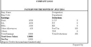 salary slip format on letterhead - Google Search | Aakanksha ...