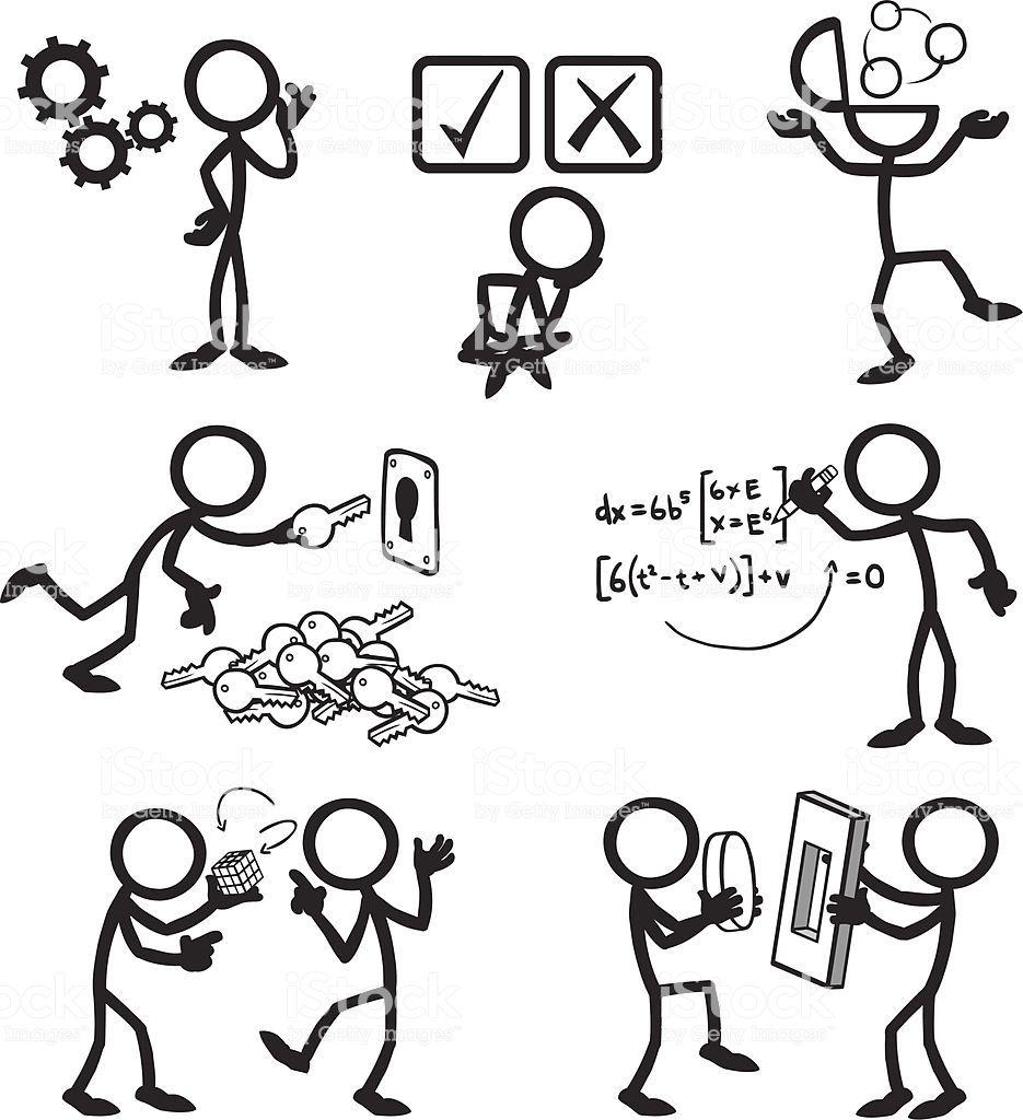 Stickfigures Problem Solving Dibujos De Personas Faciles Tipos De Letras Abecedario Notas De Dibujo