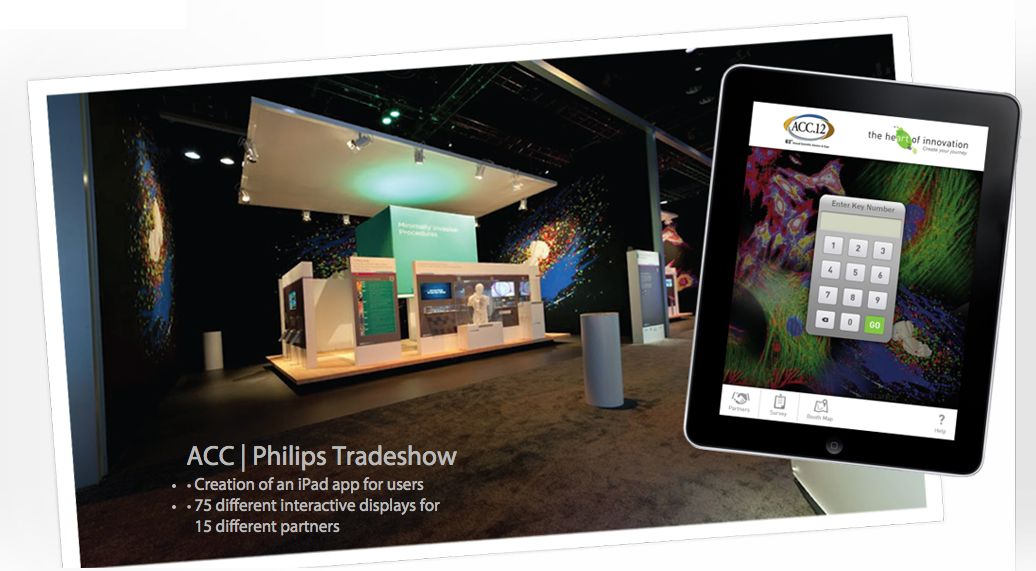 App development for philips medical trade show to learn