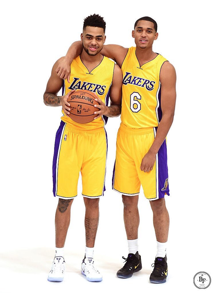 cheap for discount bad92 46097 D'Angelo Russell and Jordan Clarkson   Lakers   Los angeles ...