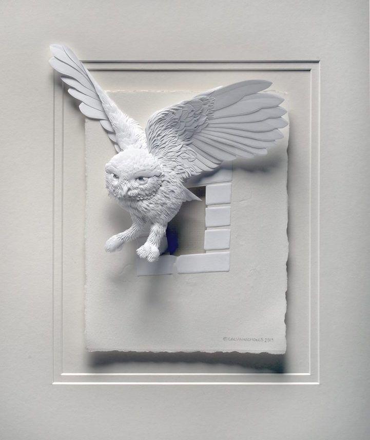 Umelec vytvára ohromné 3D obrazy zvierat z papiera. Pozrite si všetky na http://www.dobrenoviny.sk/c/54473/umelec-vytvara-ohromne-3d-obrazy-zvierat-z-papiera  #papier #umelec #paper #bird #vták #art #umenie