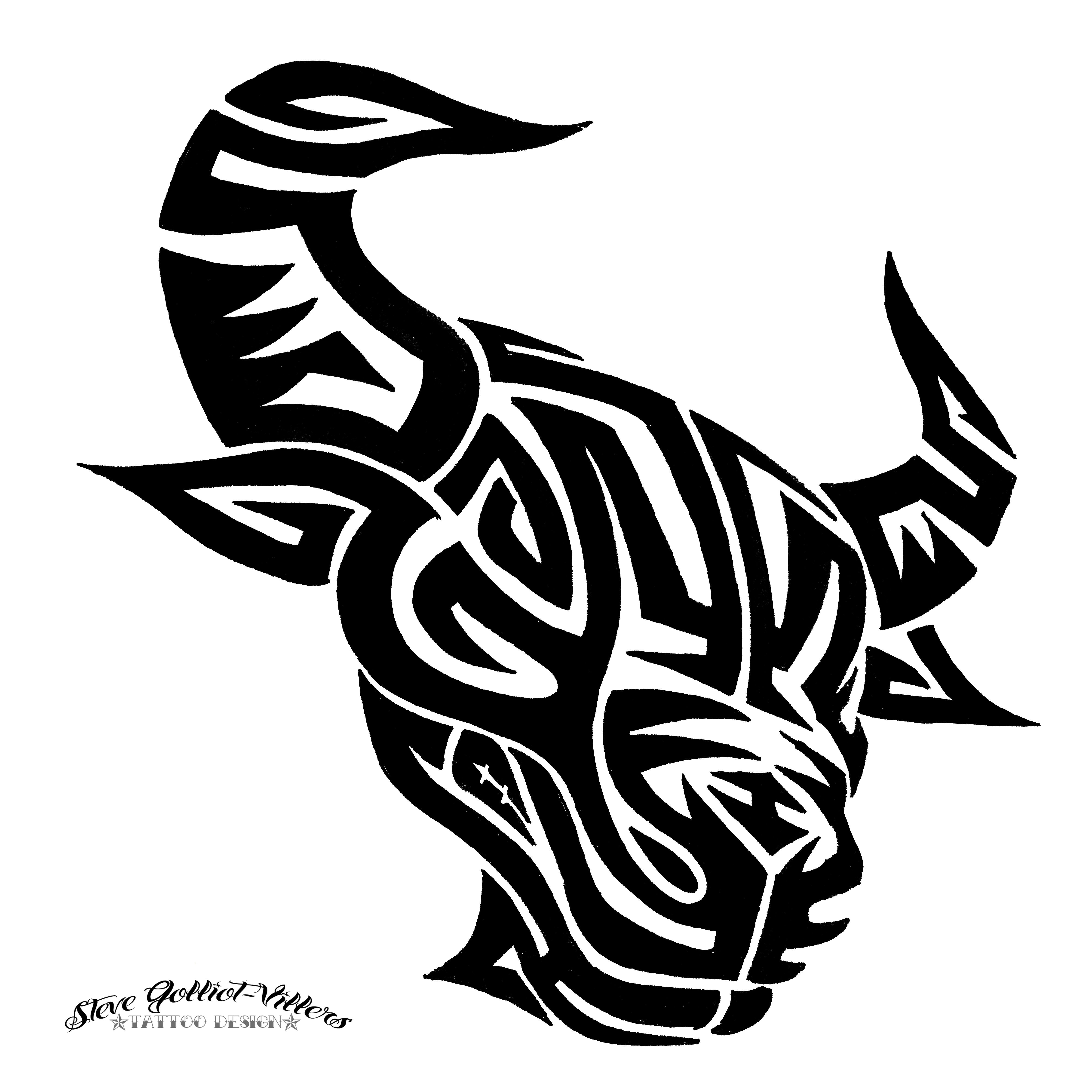 042d3395e bull tribal tattoos - Google Search | Stencils and Tattoos | Bull ...