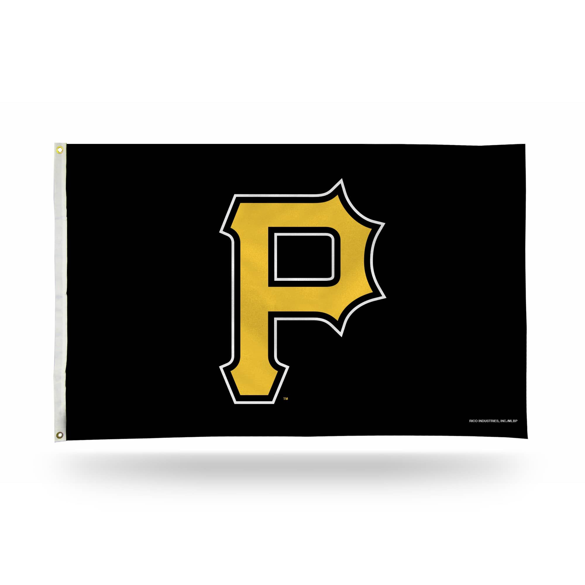 3 X 5 Black And Yellow Mlb Pittsburgh Pirates Large Banner Flag Pittsburgh Pirates American Flag Banner Black N Yellow